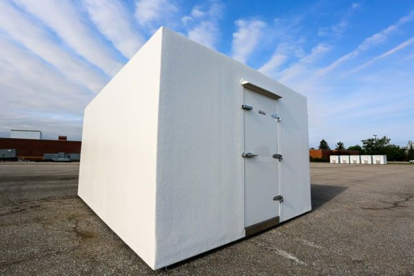 White Polar King freezer unit outside
