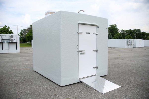 White Polar King freezer unit outside on concrete