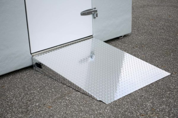 Polar King metal ramp on concrete