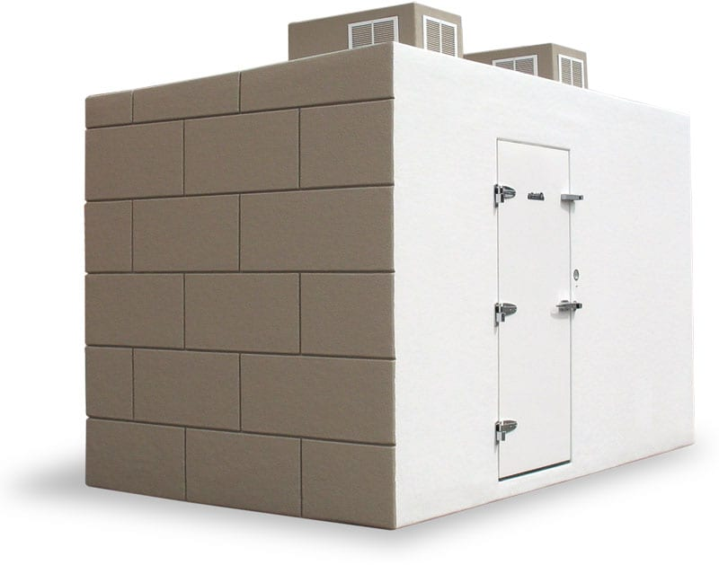 Inn Keepers walk-in freezer box white and brown