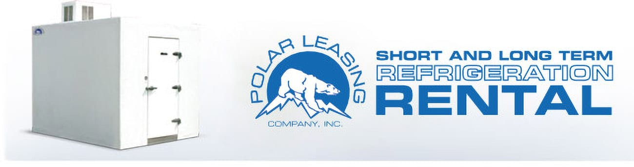 Polar King logo in blue with walk-in cooler