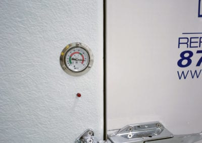 Thermometer on Polar Leasing cooler rental