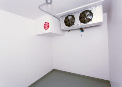 Inside of a polar leasing commercial refrigerator